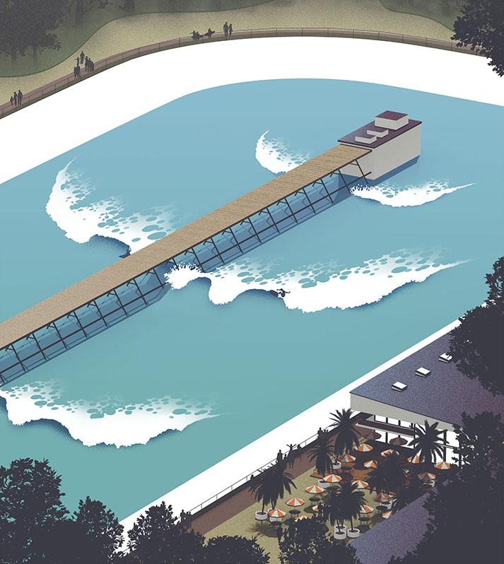 Surf life - Edition mango- Piscine à vagues