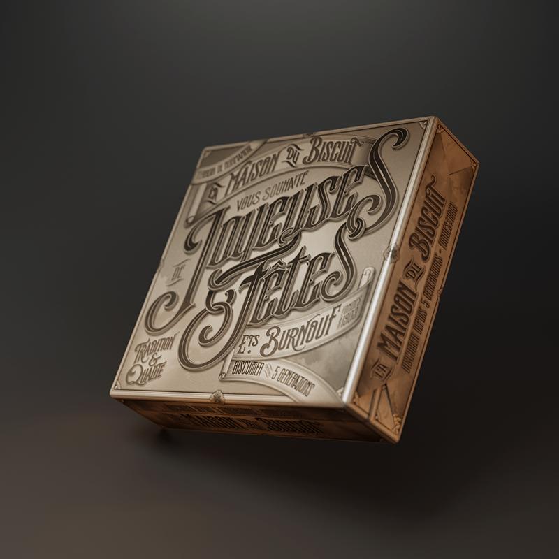 La maison du biscuit - Packaging - Joyeuses fêtes - 01